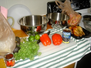 The mise en place. I love my kitchen.