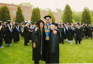 Prof. John Ernest with me and Kristin at our college graduation