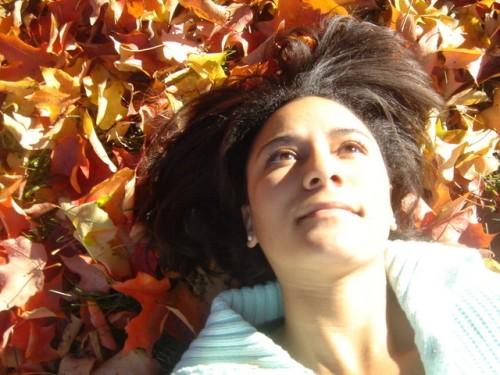 Splendor in the Grass: Me in my backyard.