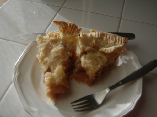 Apple pie for breakfast today.