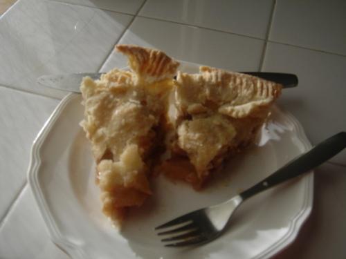Apple pie for breakfast today.
